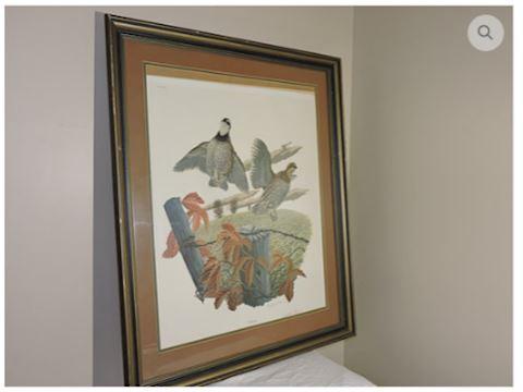 VINTAGE ART Signed by Richard Sloan - Bobwhite