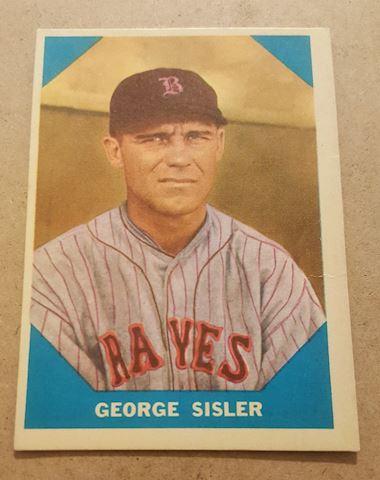 Old 1960 George Sisler Baseball Great Card #13