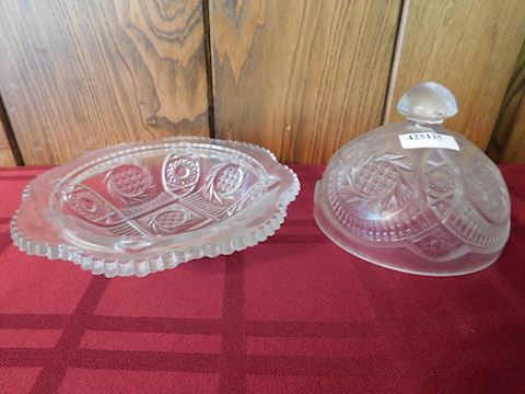 135 Glass Round Butter Dish