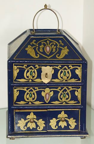Lacqured Oriental Jewelry Box