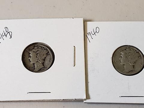 2-1940 Mercury Dimes