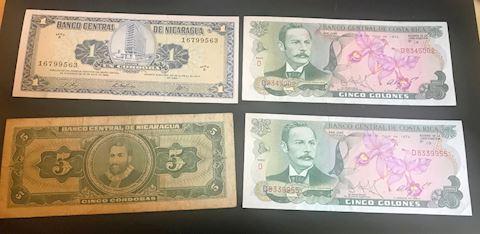 Banco Central De Costa Rica Vintage bills