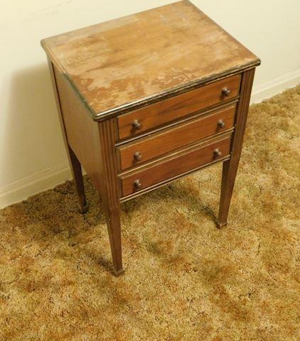 077  Vintage Sewing Cabinet