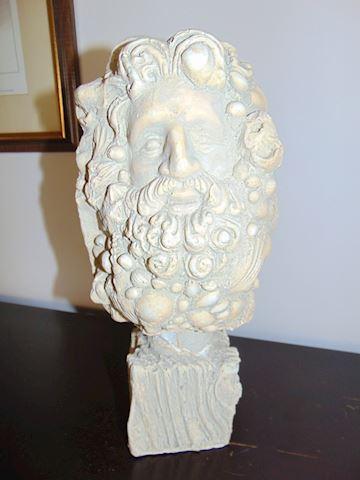 Plaster of Paris Bust of Poseidon