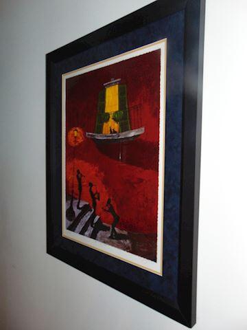 """Jazz in New Orleans""  Framed Litho"