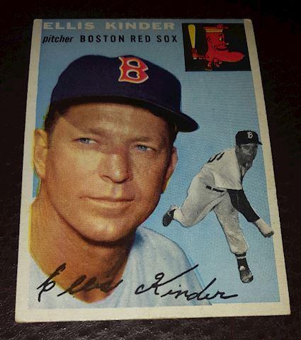 1954 Ellis Kinder Boston Red Sox Baseball Card #47