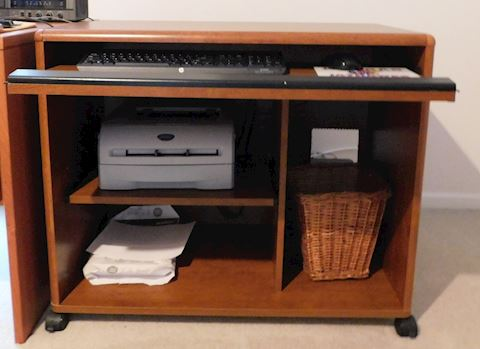 Moveable Rolling Computer Desk
