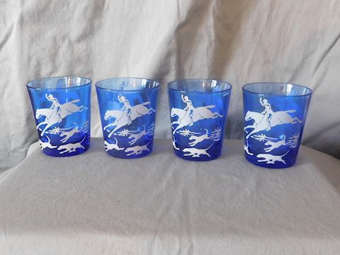 Four low ball glasses
