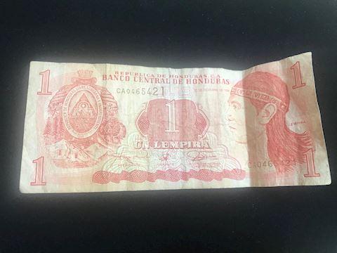 Honduras 1 Lempira note