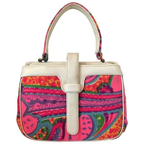 1960's Pucci Style Petite Handbag Colorful!