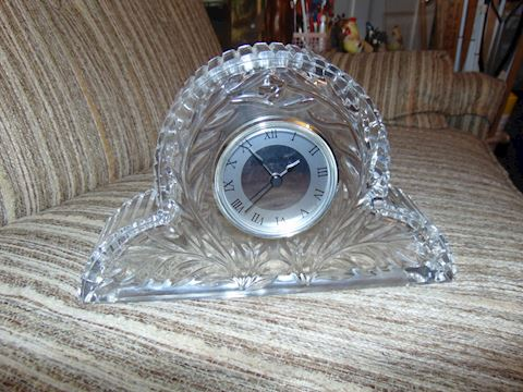 Princess House Crystal Mantel Clock