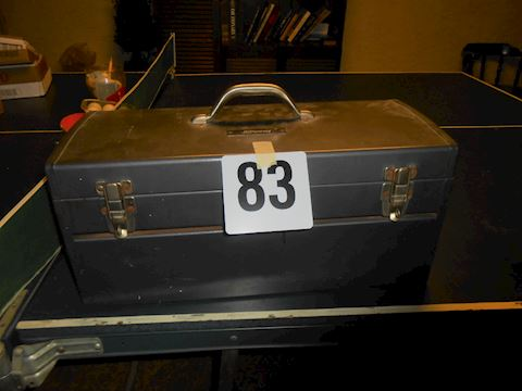 Lot #83 Metal tool box