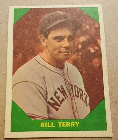 Old 1960 Bill Terry Baseball Great Card #52