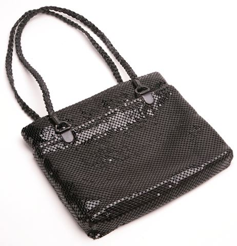 Black Mesh purse with straps