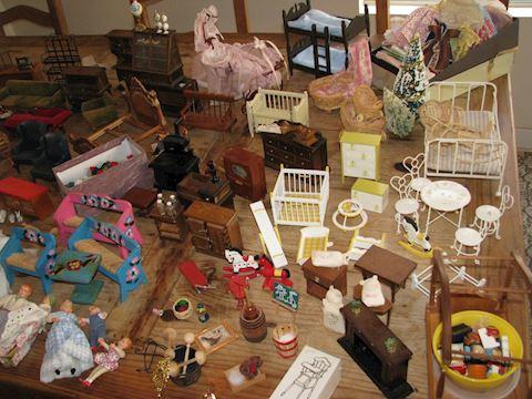 Vintage Doll Furniture Lot