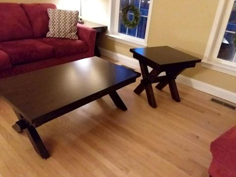 Wood Coffee Table & One End Table by Holland House