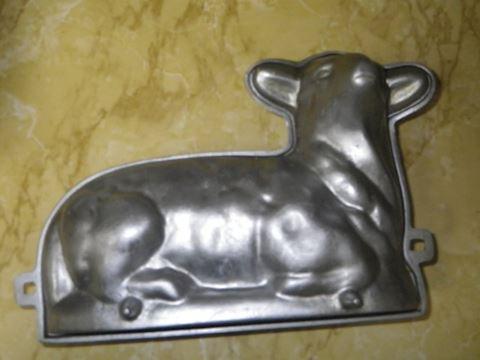 Cast Aluminum Lamb Cake Pan
