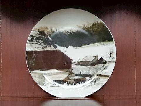 Andrew Wyeth George Jensen decorative plate 1971