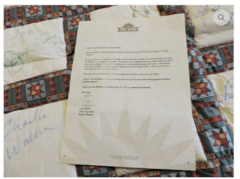 Grand Ole Opry SIGNED Quilt Over 25 Stars (RARE)