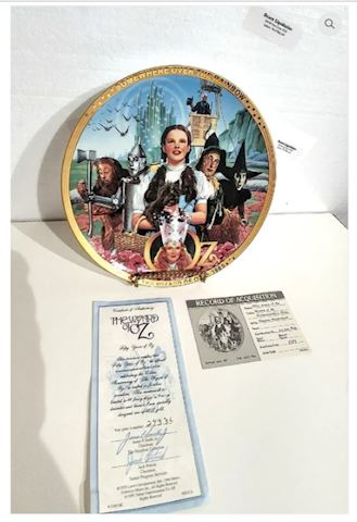 50th Anniversary The Wizard of OZ Collectors Plate