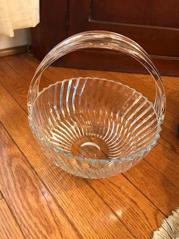 Lead Crystal Towle Basket shaped Bowl