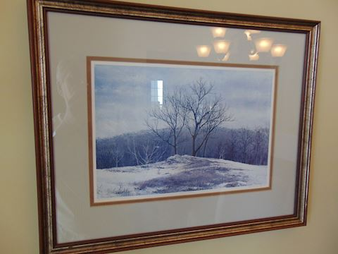 Framed Watercolor Litho