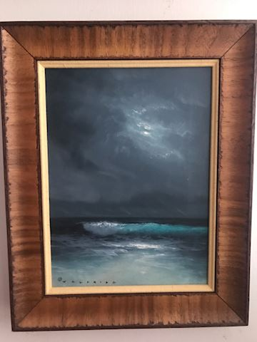Valfrido oil on canvas seascape painting