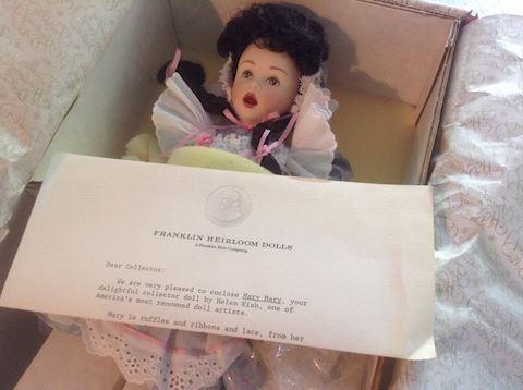 Mary Mary Franklin Heirloom Doll NIB w/COA