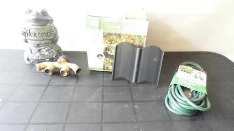 Welcome frog,  4/way hose connector etc Lot #78