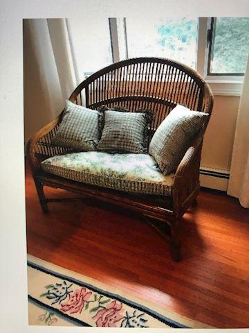 Bamboo Settee love seat