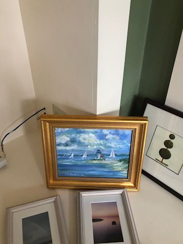 Gold Frame Sailboat Painting