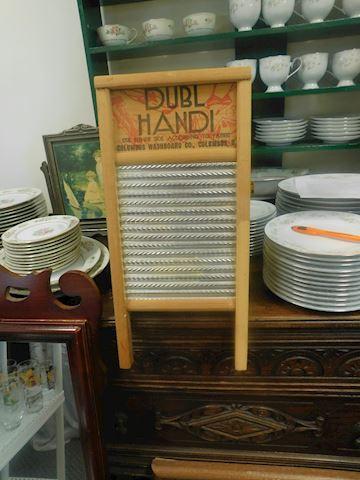 Vintage Dubl Handi Wood Washboard Wall Shelf