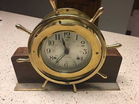 Vintage Seth Thomas Helmsman mantle clock