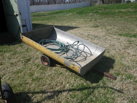 Home Made Trailer and 2 Sections of Garden Hose