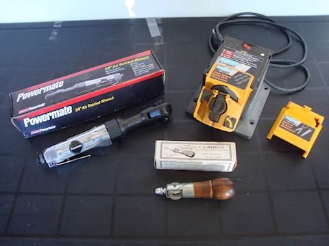 Air ratchet wrench, drill, sharpener misc Lot #126