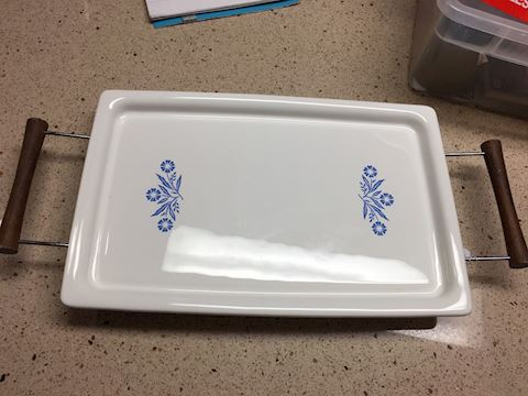 Corningware cornflower blue broil and bake platter