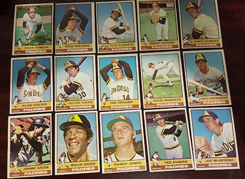 15 - 1976 San Diego Padres Baseball Cards