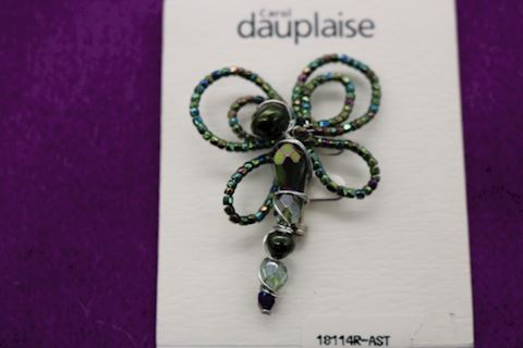 CAROL DAUPLAISE DRAGONFLY  BROOCH COSTUME JEWELRY