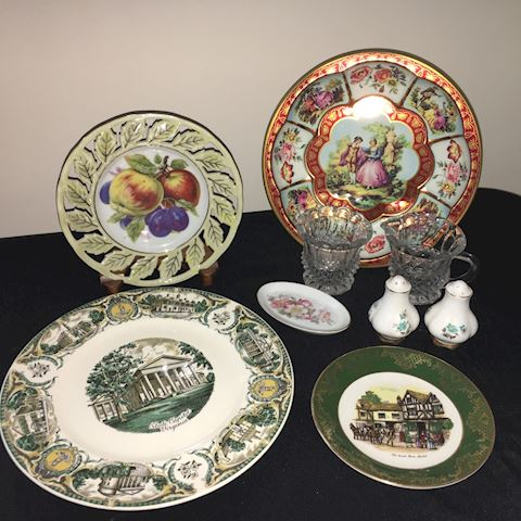 Decorative group--plates and tableware