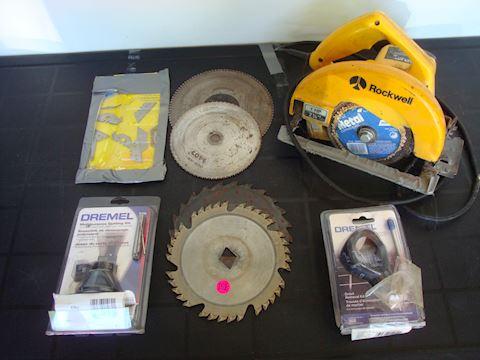 Rockwell Circular saw, dremel misc tools Lot #152