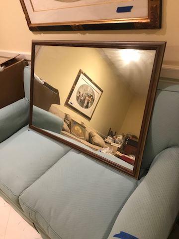 119.  Fm.  Mirror w/ wood frame