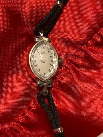 Antique GL Verimatic ladies watch 14k white gold