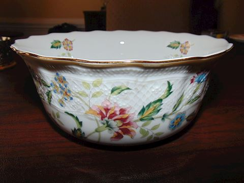 Andrea Ceramic Floral Bowl