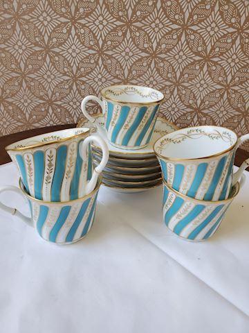 Noritaki Set of 5 coffee cups and saucers