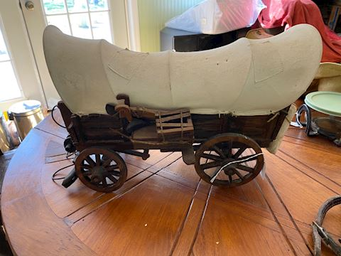 Vintage Covered Wagon Model
