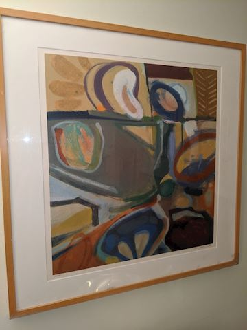 Pencil signed abstract print