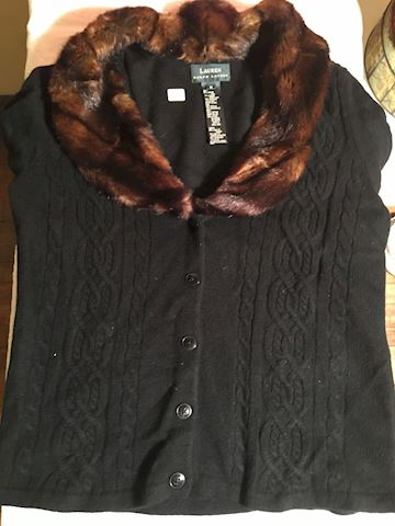 Ralph Lauren Size M Wool and Faux Fur Sweater