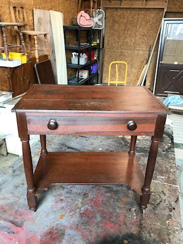 Walnut one drawer stand