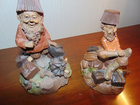 Tom Clark Gnomes.  Fudge and Chip. 1986