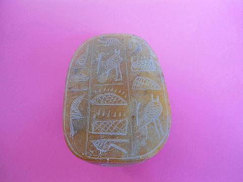 Vintage Soapstone Carved Scarab